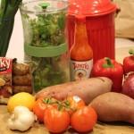 Vegan Sweet Potatoes and Sausage