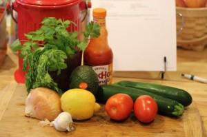Raw Zucchini Guacamole