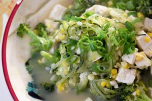 Simple Zucchini Ramen Soup