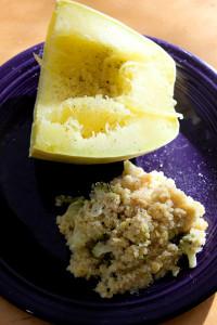 Ginger Broccoli Quinoa and Lentils