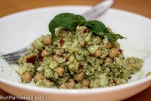 Creamy Basil Quinoa