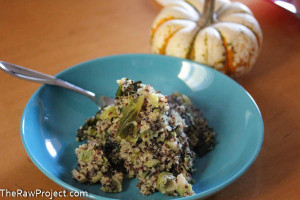 Ginger Brussels Sprouts and Quinoa